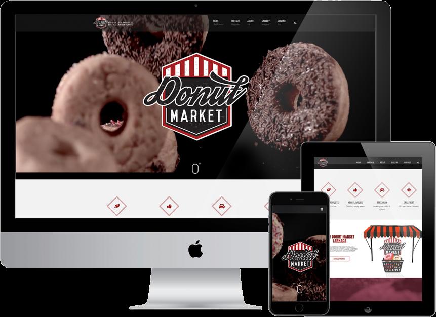 website design plexsites donut market cyprus