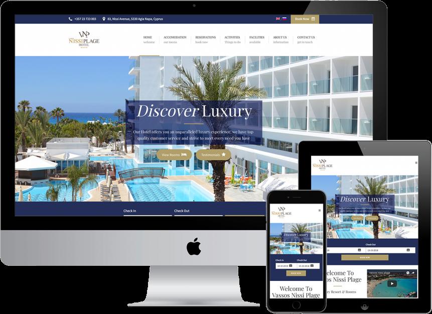website design plexsites vassos nissi plage cyprus